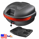 Motorcycle Tail Box Luggage Trunk Top Case Touring Scooter Cruiser Dirt Bike 30L