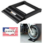 Black Aluminum Wheel Roller Stand Roll-up Ramp For Motor Wheel Tyre Rollers US