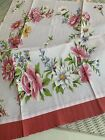 New LuRay Vintage Style Pretty Kitchen Tea Towel Beautiful Floral Wreath Print
