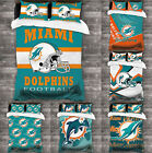 Miami Dolphins Design 3PCS Bedding Set Duvet Cover Pillowcases Comforter Cover