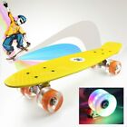 22 Flashing LED Skateboard Complete Street Long Board Kids Penny Style Scooter