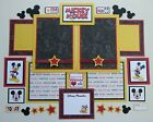 Premade Disney Scrapbook Page Mat Set Handmade Mickey Mouse 29