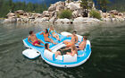 Inflatable Island Raft 7 Person Floating Relaxation Pool Party Lake Float Cooler