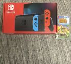 Animal Crossing And Nintendo Joy Con Blue and Red Switch Console Bundle