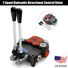 2 Spool Hydraulic Directional Control Valve for Tractors Loaders Machinery USA