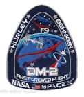 Official Nasa Falcon 9 Space X SpaceX First Crewed Flight DM 2 Mission Patch New