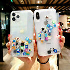 For iPhone 11 Pro MAX XS XR X 8 7+ App Icon Moving Glitter Quicksand Case Cover