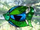 Handmade Stained Glass Tropical BIG FISH SUNCATCHER F58