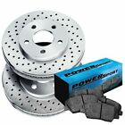Fit Suzuki Geo Sidekick Tracker Front Drilled Brake Rotors+Ceramic Brake Pads