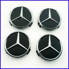4pcs Wheel Center Caps Badge Hub Caps Emblem Mercedes Benz Logo 75mm New