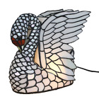 Tiffany Stained Glass Creative Swan Table Lamps Lampshade Night Lighting Gift