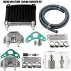 Motorcycle CNC Aluminum Engine Oil Cooler Cooling Radiator Kit Universal