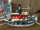 Lemax Village Plymouth Corners Collection Lighted 2001 BESSIE TUGBOAT 15541