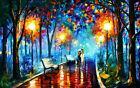 LMOP1233 handmade painted city landscape in night oil painting art on canvas
