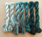 7bundles 100natural mulberry silkhand dyed su embroidery silk floss threads