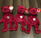 Valentina Beanie Babies, Qty 3, Swing Tag Error, New Condition, 1998, Retired