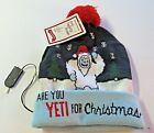 Presentville Flashy Light-Up Beanie Holiday Cap Are You YETI for Christmas New T