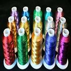 15 colors super Shiny Metallic Thread cones 1100 yards for Machine Embroidery