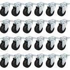 Megadeal 12 Pack 2 Swivel Caster Wheels Rubber Base With Top Assorted Sizes