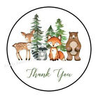 30 WOODLAND ANIMALS THANK YOU ENVELOPE SEALS LABELS STICKERS PARTY FAVORS 15