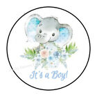 30 ITS A BOY BABY ELEPHANT SHOWER ENVELOPE SEALS LABELS STICKERS FAVORS 15