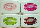 LOT OF 4 MEMENTO Dye Ink Pad VARIOUS COLORS Tsukineko Brand NEW Sealed