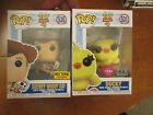 FUNKO POP TOY STORY 4 DUCKY FLOCKED & SHERIFF WOODY HOLDING FORKY FYE HOT TOPIC