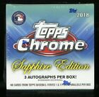 2018 Topps Chrome Sapphire Edition Factory Sealed Box 100ct Cards Acuna ?