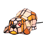Tiffany Stained Glass Puppy Dog Table Lamp Night Lighting Home Decoration Gifts