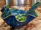 Rollin Karg Hand Blown Art Glass Extra Large Bowl Sculpture