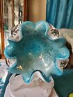 VTG MID CENTURY MURANO ART GLASS BOWL DISH ASHTRAY 7+ INCHES W X 3 inches