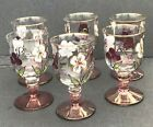 Glass Wine Water Goblet Colorful Crystal set of 6 Approx dimensions 4 x 2