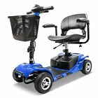 New Innuovo Folding Electric Powered Mobility Scooter 3 Wheel Travel Blue