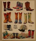 New NRN Designs sheet scrapbooking card making stickers cowboy boots