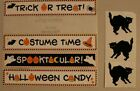 New Halloween scrapbooking card making stickers black cats costume candy borders