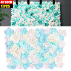 Pack of 12 Artificial Silk Rose Flower Wall Panel Home Wedding Venue Photography