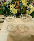 Vintage Waterford Crystal Lismore Champagne Sherbet Glasses SIGNED