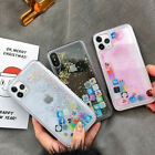 For iPhone 11 Pro Max XR XS 7 8 + App Icon Dynamic Glitter Quicksand Clear Case