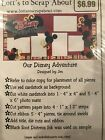 DISNEY ADVENTURES 12X12 Page Layout 2 Page Layout Scrapbooking Kit NEW