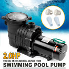 Super Above Ground 20HP Swimming Pool Water Pump 110 240V Motor Portable New
