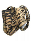 90s Y2K Vintage Faux Fur Purse Animal Tiger Print Retro Shoulder Bag Boho Hippie
