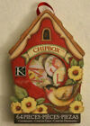 KCompany Scrapbooking Circle Alphabet Chipboard 64 Pieces Birds And Flowers