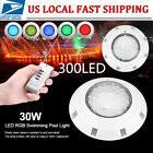 300 LED RGB Underwater Swimming Pool Light Spa Lamp 30W +Remote Control IP68