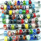 RUBYCA Silver Color Murano Glass Beads Fit European Charm Bracelet Spacer by eAR