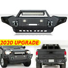 Texture Black Front Rear Bumper Set Wled Light For 2005-2015 Tacoma Offroad