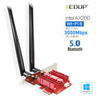 EDUP Bluetooth 50 Wifi 6 3000Mbps AX200NGW PCI E Wireless Card Adapter 24 5Ghz