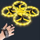 Mini Watch Drone Intelligent Remote Control LED ufo Helicopter dron Kids Toys