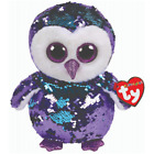 TY BEANIE BOO FLIPPABLE MOONLIGHT THE OWL SEQUINS  LIMITED 6 INCHES
