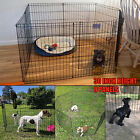 30 Inch Tall Puppy Pen Dog Kennel Playpen 8 Panel Folding Fence Indoor Outdoor