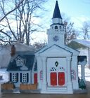 LEMAX 2000 LIGHTED UNITED CHURCH PLYMOUTH CORNERS VILLAGE COLLECTION PORCELAIN